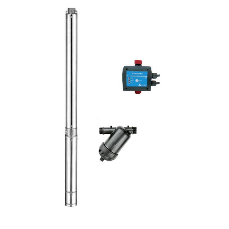 Tiefbrunnenpumpe eco3  3  Beregnungs - Paket,  iController,  Rillenscheibenfilter