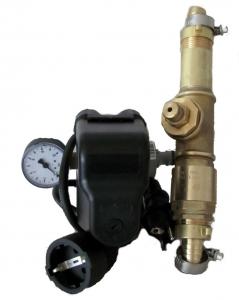 DR1013 -Druckschalter Set mit Kabel, 5Wegeadapter und Manometer, Wandanbaubar, betriebsfertig montiert, inkl. Automatisches Entleerungsventil, nur für Membranpumpen