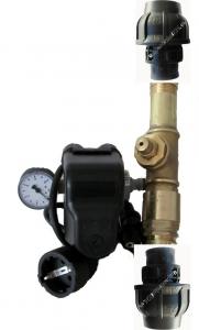 DR1012 -Druckschalter  Type PM/5 1,5 -5bar Made in ITALY Set mit Kabel, 5Wegeadapter und Manometer, Wandanbaubar, betriebsfertig montiert, inkl. Automatisches Entleerungsventil, nur für Kreisel Tiefbrunnenpumpen