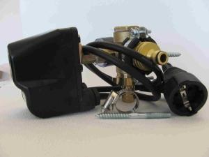DR1009 -Druckschalter  Type PM/5 1,5 -5bar Made in ITALY Set mit Kabel, 5Wegeadapter und Manometer, Wandanbaubar, betriebsfertig montiert