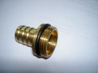 IN0010 -Schlauchtülle   1 AG x 19mm  (3/4 Schlauch) Messing
