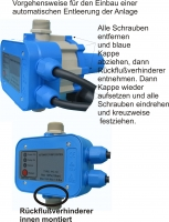 DR3002 -Drucküberwachung , Trockenlaufschutz, elektronisch, 230Volt, 10Amp, bis 10bar