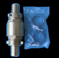IN8113 -Rückschlagventil Set für die Zwischenmontage im Wasserschlauch der Membranpumpen, fertig montiert