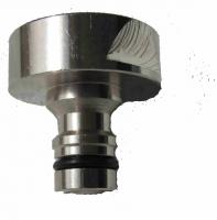 IN0022 -Schlauchanschlussstück / Steckanschluss 1 IG Messing vernickelt, für Kugelauslaufhahn 3/4