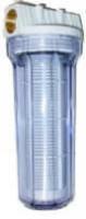 ZU2003  -Sand - Vorfilter Kunststoff 80 Micron 300mm lang  mit Filterpatrone   4,0 m³/h Wasserdurchlass