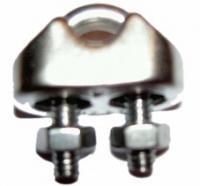 ZU4006 - 1 Stück Edelstahl Seilklemmen für Kreisel- Tiefbrunnenpumpefür Edelstahlseil D=5mm