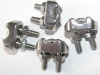 ZU4007 -4 Stück Edelstahl Seilklemmen für Kreisel- Tiefbrunnenpumpefür Edelstahlseil D=5mm
